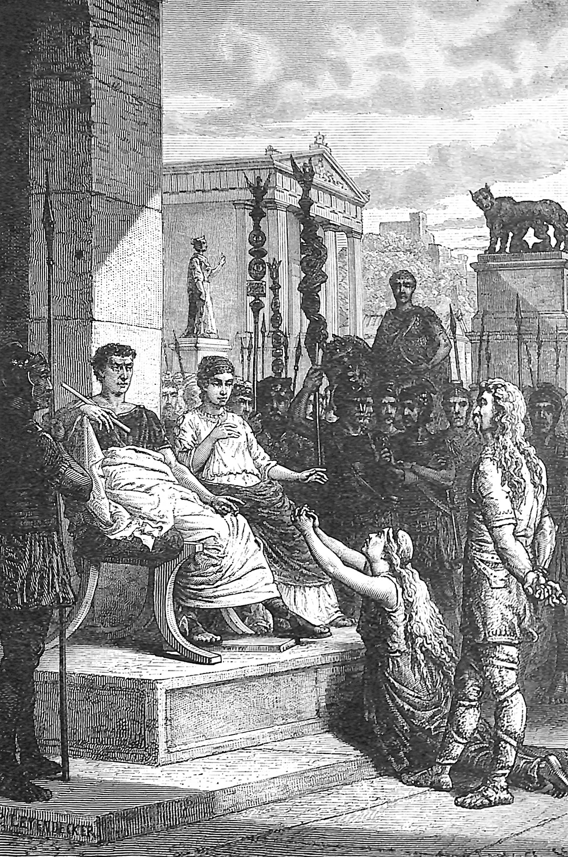Caractacus And His Wife Before The Roman Emperor