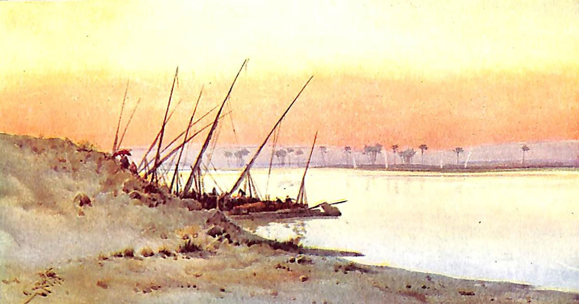Sunset On The Banks Of The Nile