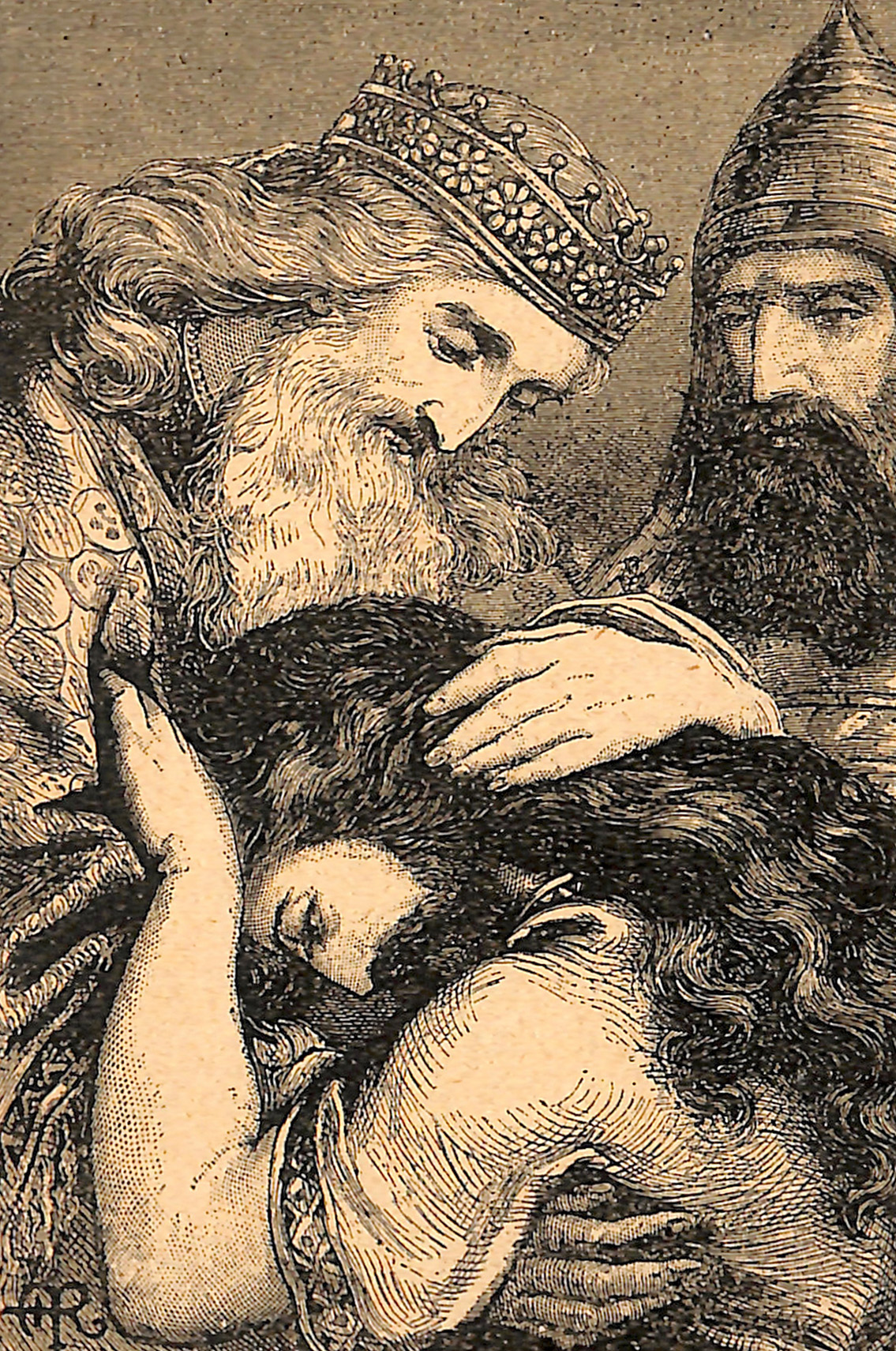 King David Forgiving His Son Absalom