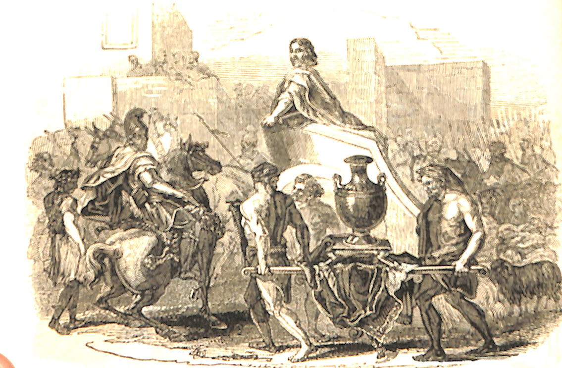 Saul Returning From Battle With The Spoil Of The Amalekites. - Adapted From Le Brun