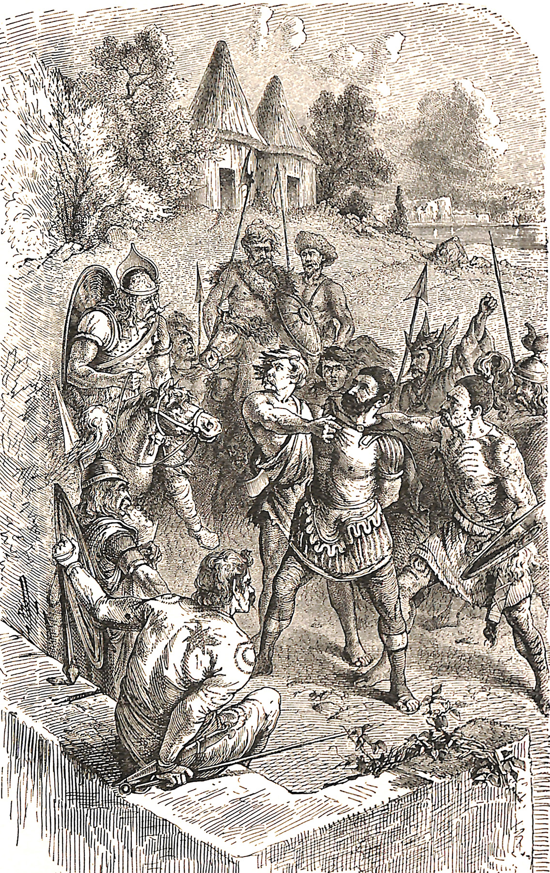 A Roman Prisoner Before A British Chief