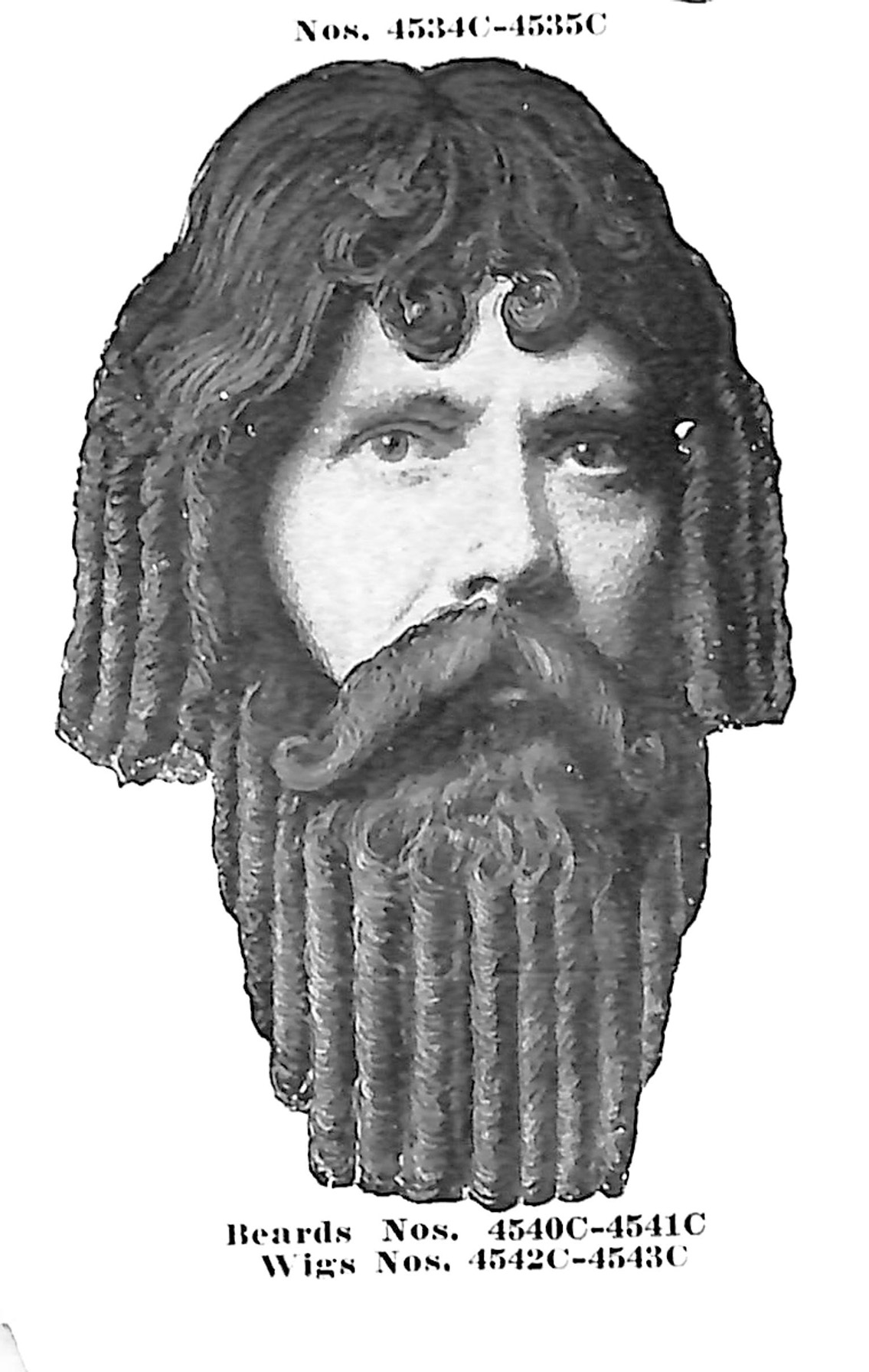 Wig and Beards no. 4540C-4543C