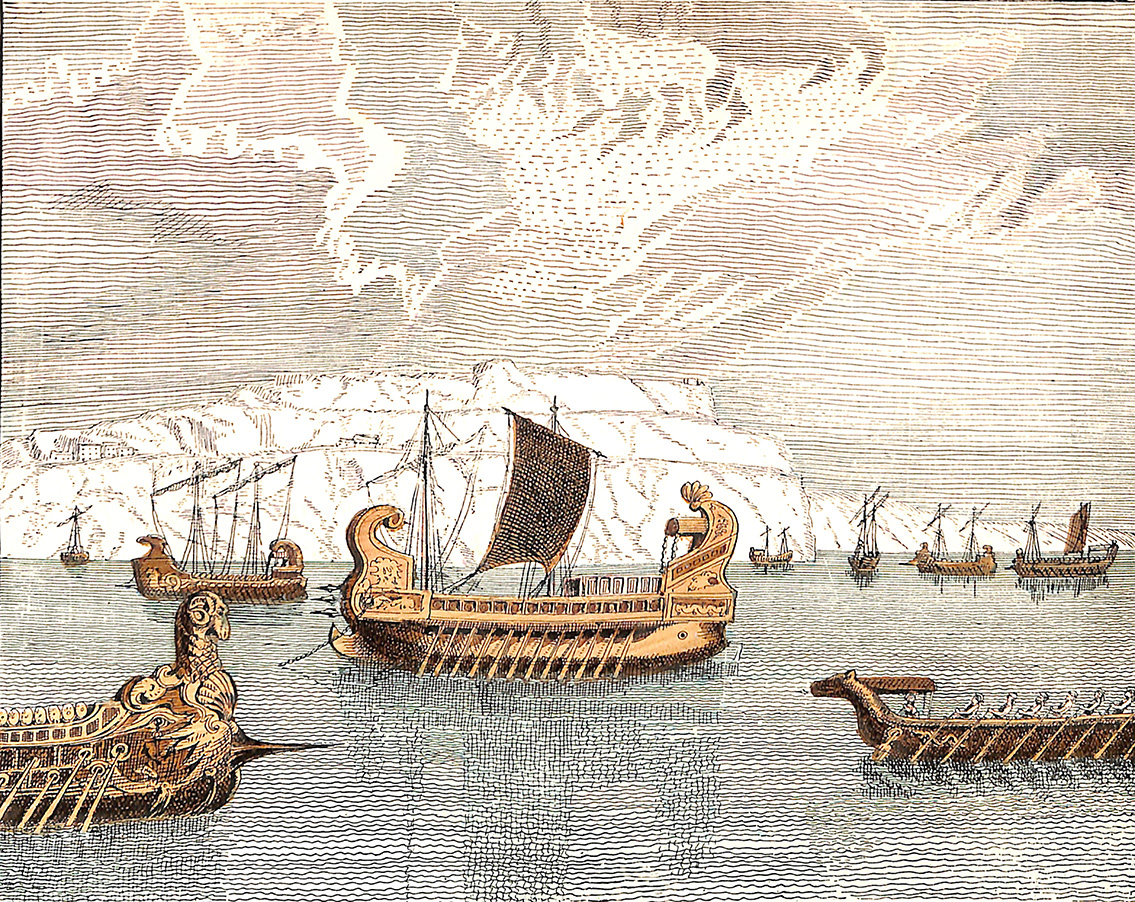 Roman Squadron Off The Coast Of Britain