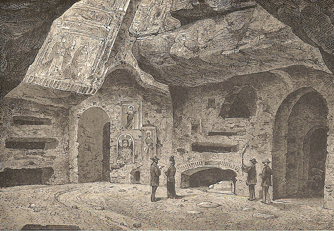 Chamber of a Catacomb (With head of Christ, etc, of the First Century)