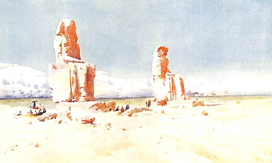 The Colossi Of Memnon At Thebes