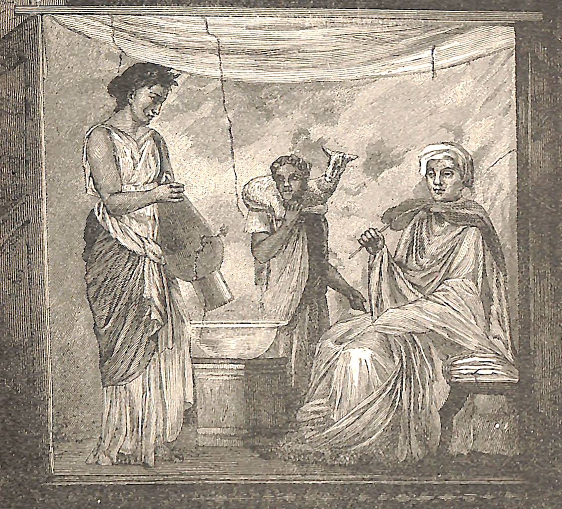 Ancient Sacrifice (From Wall Paintings of Pompeii)